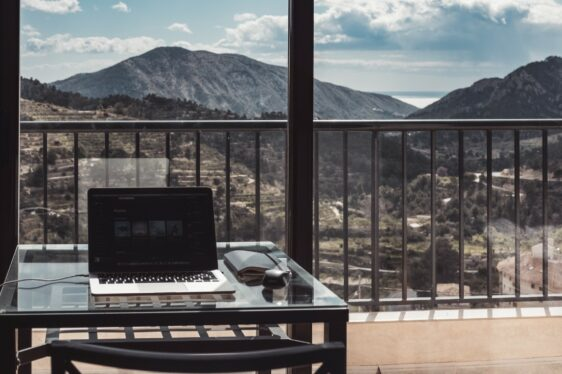 Workspace with a view